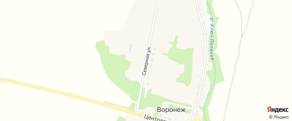 Северная улица на карте поселка Воронежа с номерами домов