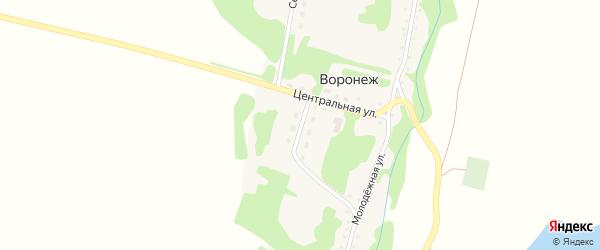 Тракторная улица на карте поселка Воронежа с номерами домов