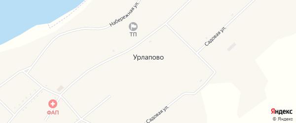 Садовая улица на карте села Урлапово с номерами домов