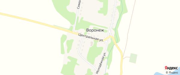 Центральная улица на карте поселка Воронежа с номерами домов