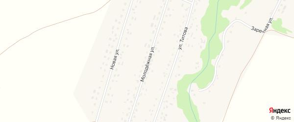 Молодежная улица на карте Екатерининского села с номерами домов