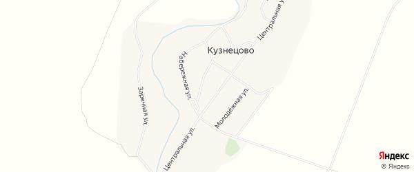 Карта села Кузнецово в Алтайском крае с улицами и номерами домов