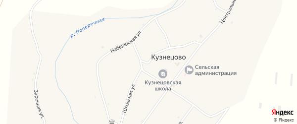 Школьная улица на карте села Кузнецово с номерами домов