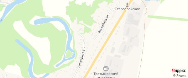Урожайная улица на карте Староалейского села с номерами домов