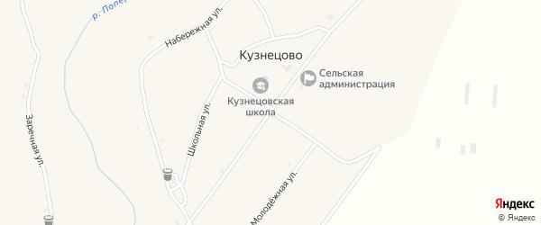 Центральная улица на карте села Кузнецово с номерами домов