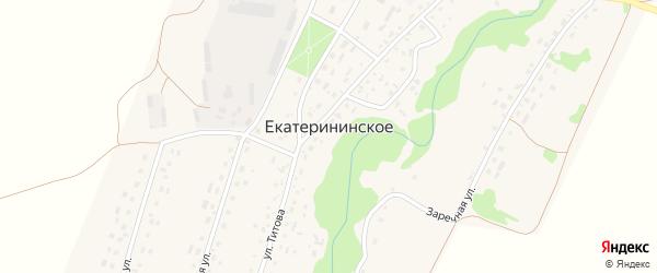 Урожайная улица на карте Екатерининского села с номерами домов