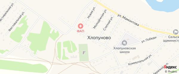Олимпийская улица на карте села Хлопуново с номерами домов