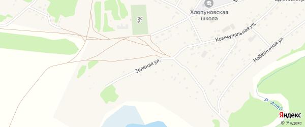 Зеленая улица на карте села Хлопуново с номерами домов