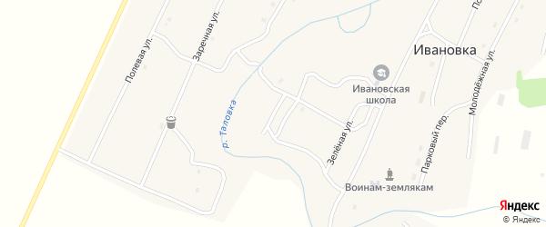 Набережная улица на карте села Ивановки с номерами домов