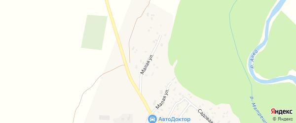 Малая улица на карте Екатерининского села с номерами домов