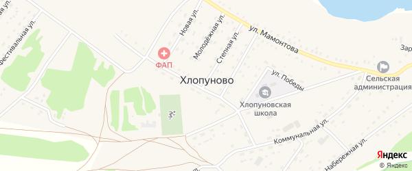Олимпийский переулок на карте села Хлопуново с номерами домов