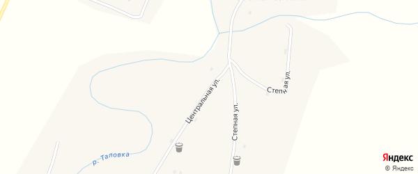 Центральная улица на карте села Ивановки с номерами домов