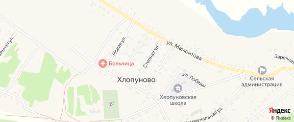 Степная улица на карте села Хлопуново с номерами домов