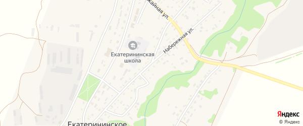 Набережная улица на карте Екатерининского села с номерами домов
