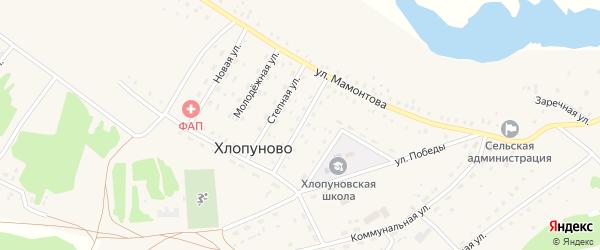 Садовая улица на карте села Хлопуново с номерами домов