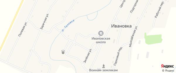 Садовый переулок на карте села Ивановки с номерами домов