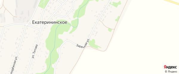 Заречная улица на карте Екатерининского села с номерами домов
