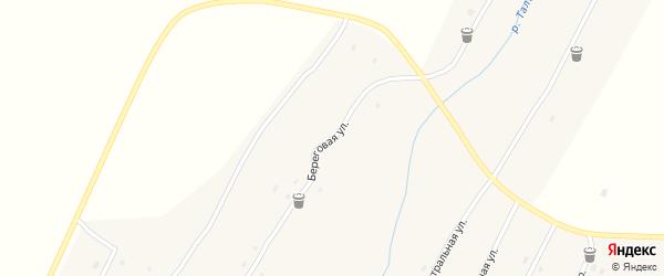 Береговая улица на карте села Ивановки с номерами домов