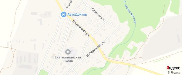 Советская улица на карте Екатерининского села с номерами домов