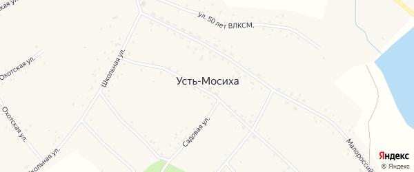 Боровая улица на карте села Усть-Мосихи с номерами домов