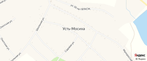 Верх-Кулундинская улица на карте села Усть-Мосихи с номерами домов