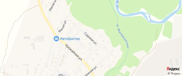 Садовая улица на карте Екатерининского села с номерами домов