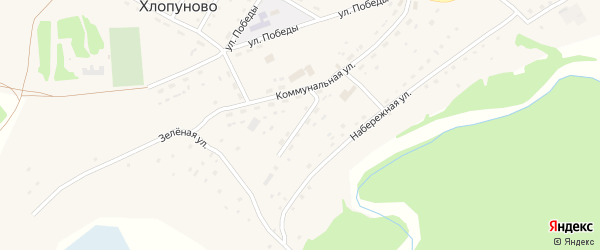 Котельный переулок на карте села Хлопуново с номерами домов