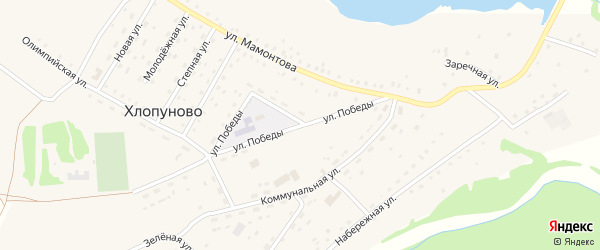 Улица Победы на карте села Хлопуново с номерами домов