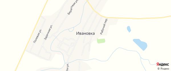 Карта села Ивановки в Алтайском крае с улицами и номерами домов
