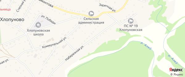 Набережная улица на карте села Хлопуново с номерами домов