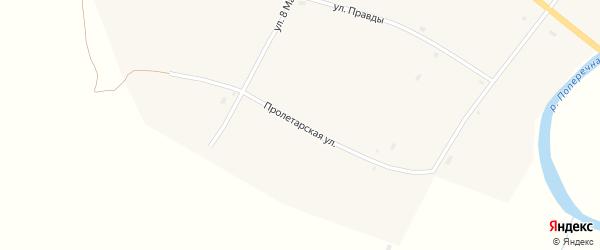 Пролетарская улица на карте села Николаевки с номерами домов