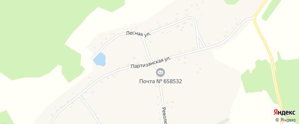 Партизанская улица на карте села Георгиевки с номерами домов