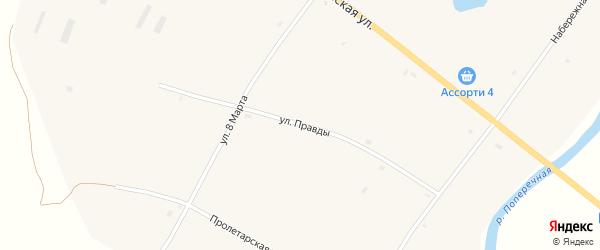 Улица Правды на карте села Николаевки с номерами домов