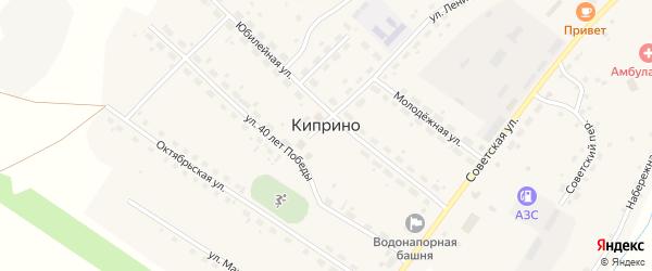 Октябрьская улица на карте села Киприно с номерами домов