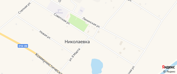 Улица 8 Марта на карте села Николаевки с номерами домов