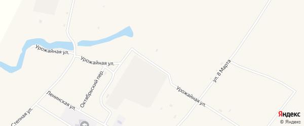 Урожайная улица на карте села Николаевки с номерами домов