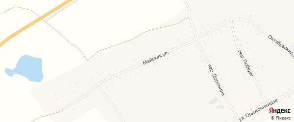 Майская улица на карте Подстепного села с номерами домов
