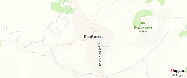 Карта поселка Березовки в Алтайском крае с улицами и номерами домов