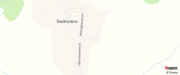 Восточная улица на карте поселка Березовки с номерами домов