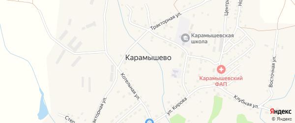 Степная улица на карте села Карамышево с номерами домов