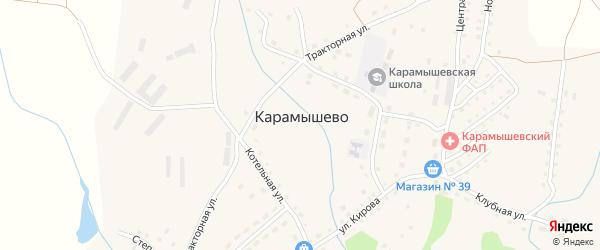 Набережная улица на карте села Карамышево с номерами домов
