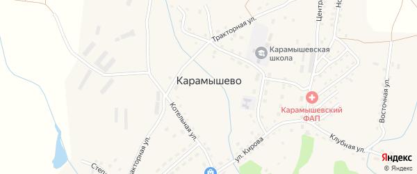 Ключевской переулок на карте села Карамышево с номерами домов
