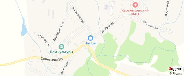 Улица Кирова на карте села Карамышево с номерами домов