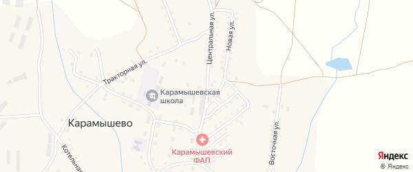 Центральная улица на карте села Карамышево с номерами домов