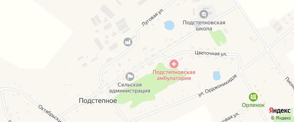 Улица 50 лет ВЛКСМ на карте Подстепного села с номерами домов