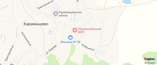 Подгорная улица на карте села Карамышево с номерами домов