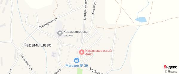 Буровая улица на карте села Карамышево с номерами домов