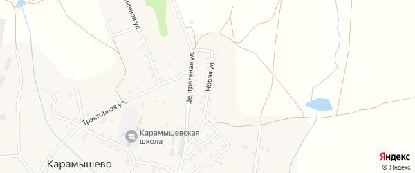 Новая улица на карте села Карамышево с номерами домов