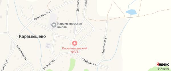Разведочная улица на карте села Карамышево с номерами домов