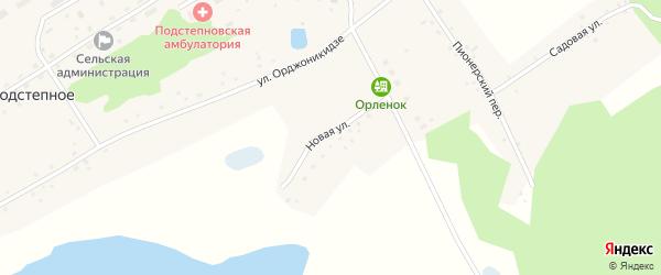 Новая улица на карте Подстепного села с номерами домов
